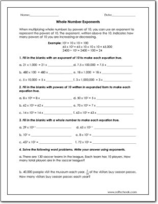 Whole number exponents worksheet whole number exponents ibookread Download