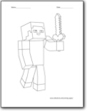 diamond armor coloring pages - photo#3