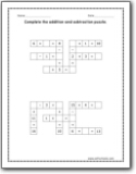 addition and subtraction puzzle worksheets addition and subtraction puzzle  worksheet
