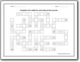 addition and subtraction puzzle worksheets addition and subtraction puzzle upto  worksheet