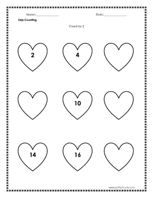 Skip Counting Count by 2 Worksheet