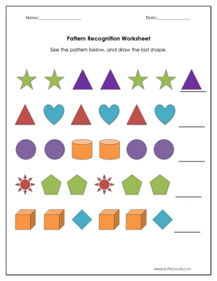 Pattern Recognition Worksheet Worksheet