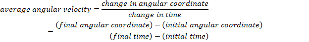 formula for angular velocity