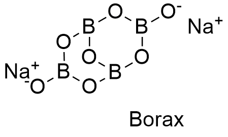 Boraxformula3g which has 4 boron atoms coordinated to 7 oxygen atoms and formed a bicyclic structure the chemical structures for the anhydrous planar and 3 d and ccuart Images