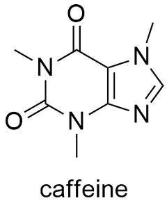 Картинки по запросу caffeine structure