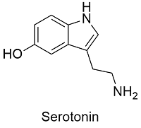 "Serotonin molecule molecular structure"" Stickers by Mhea | Redbubble"