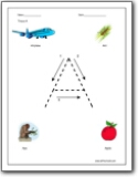 Printables Softschools Worksheets letter a worksheets alphabet sound handwriting for color a
