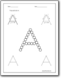 Letter A Worksheets : Alphabet A sound handwriting worksheets for ...