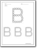 Trace Letter B Boat