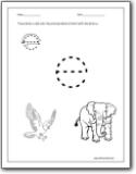 letter e worksheets alphabet e sound handwriting worksheets for preschool and kindergarten. Black Bedroom Furniture Sets. Home Design Ideas