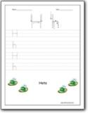 letter h worksheets alphabet h sound handwriting worksheets for preschool and kindergarten. Black Bedroom Furniture Sets. Home Design Ideas
