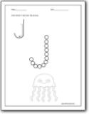 Letter J Worksheets Alphabet J sound handwriting worksheets for