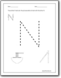 letter n worksheets teaching the letter n and the n sound letter n worksheets for. Black Bedroom Furniture Sets. Home Design Ideas