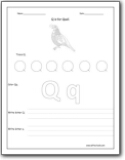 letter q worksheets teaching the letter q and the q sound letter q worksheets for. Black Bedroom Furniture Sets. Home Design Ideas