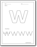 Letter W Worksheets Teaching The Letter W And The W Sound