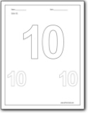 Number 10 Worksheet Kindergarten