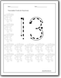 Number 13 Worksheets : Number 13 worksheets for preschool and ...