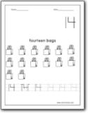 Number 14 Worksheets : Number 14 worksheets for preschool and ...