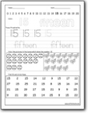 math worksheet : number 15 worksheets  number 15 worksheets for preschool and  : Soft School Math Worksheets