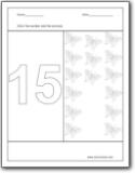 Number 15 Worksheets Number 15 Worksheets For Preschool And