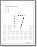 Worksheets Number 17 Worksheet number 17 worksheets for preschool and color trace worksheet