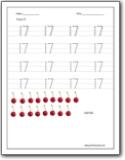Number 17 Worksheets : Number 17 worksheets for preschool and ...