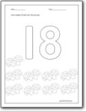 math worksheet : number 18 worksheets  number 18 worksheets for preschool and  : Softschools Math Worksheets