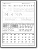 Number 19 Worksheets : Number 19 worksheets for preschool ...