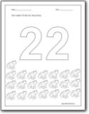 color trace worksheet number 22 color trace worksheet number 22 color ...