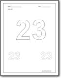 Number 23 Worksheets : Number 23 worksheets for preschool and ...