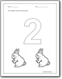 Worksheets Number 2 Worksheet For Kindergarten number 2 worksheets for preschool and worksheets