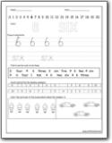 Number 6 Worksheets Number 6 Worksheets For Preschool And Kindergarten