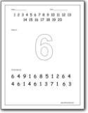 math worksheet : number 6 worksheets  number 6 worksheets for preschool and  : Number 6 Worksheets For Kindergarten