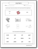 long vowel worksheets. Black Bedroom Furniture Sets. Home Design Ideas