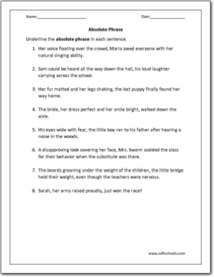 Absolute Phrase Worksheet