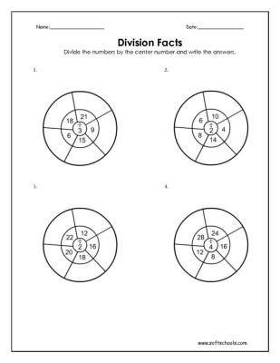 division facts 2 3 and 4 worksheet. Black Bedroom Furniture Sets. Home Design Ideas