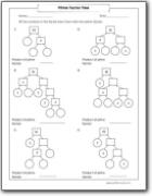 Prime Factor Tree Worksheets 4th Grade Factor Worksheets Prime Factor Tree Worksheet 1