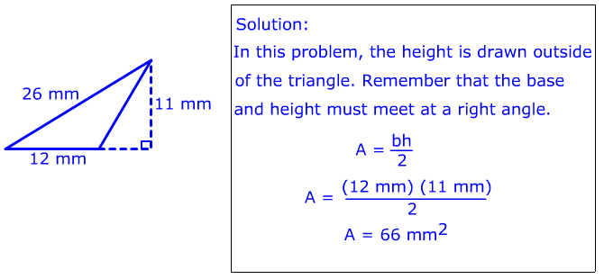 Area of Triangles: Using Base and Height