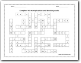 multiplication and division puzzle worksheets. Black Bedroom Furniture Sets. Home Design Ideas