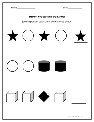 pattern recognition worksheet worksheet. Black Bedroom Furniture Sets. Home Design Ideas