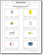 estimating weight worksheets. Black Bedroom Furniture Sets. Home Design Ideas
